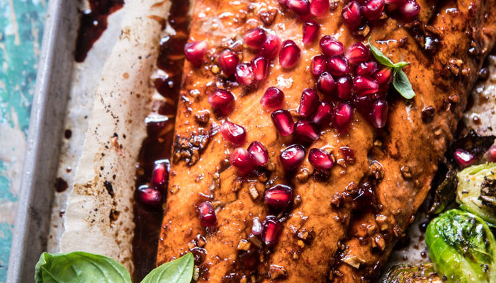 Pan Roasted Pomegranate Glazed Salmon